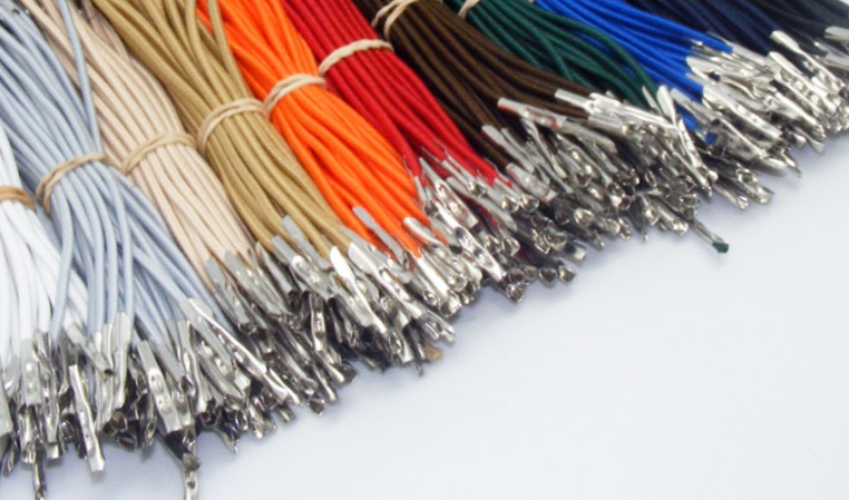 Elastic Cord with Metal Ends (Barbed Elastic Cord)