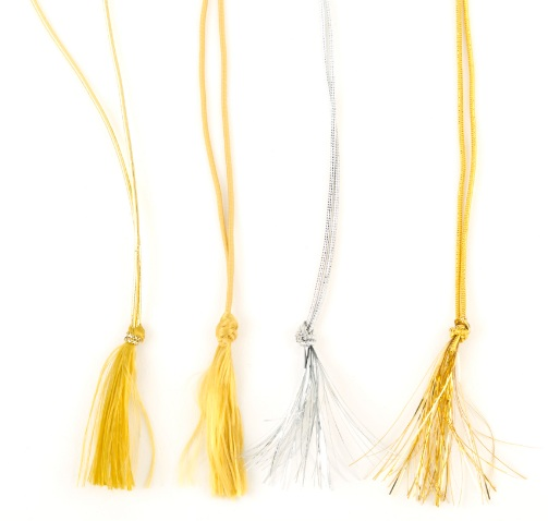 Elastic Loop with Tassel End